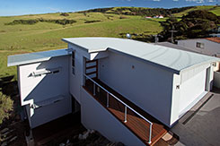 Colorbond roof and wall cladding rural home